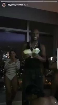 Mayweather's victory party