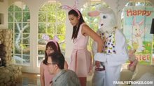 Avi Love fucking the Easter Bunny behind her parents back