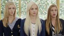 Elsa Jean Rachel James and Sydney Cole - Preppy Girl Threesome Get Three BBCs