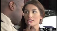 August Ames - Blacked - Her first Blacked scene, before she ruined her lips