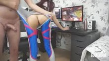 What game is she playing?