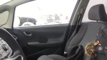 Flashing in a public parking lot[gif]... Merry XXXmas Eric