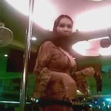 Hijabi arab shows ass and boobs in a dubai club