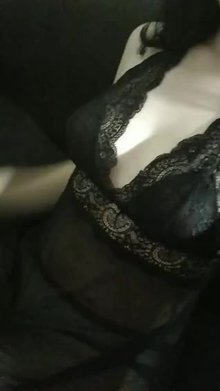 My tits in a black lace <3