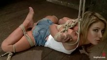 Sheena Shaw is bound and gets a hook in her ass