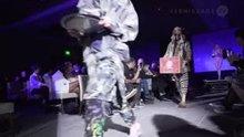 Naked waitress on fashion runway