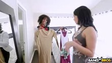 Aaliyah Hadid and Misty Stone - A Hot Threesome With Dad's New GF