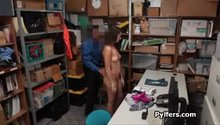 Perky shoplifter caught and fucked by security guard