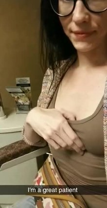 My little tits at the optometrist office
