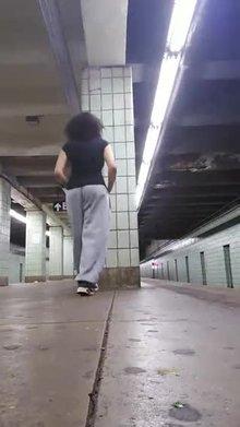Masturbating at the NYC Subway Station