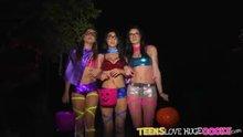 Three Sexy Asses On Halloween