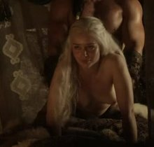 Emilia Clarke getting taken to 'Pound Town'