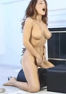 Isabella Camille's perfect body humping & cumming on a sybian