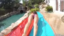 Uma Jolie - Slip and Slide Creampie