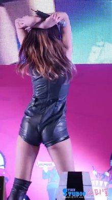 Kpop girl Seolhyun shows off