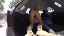 Bella Rose at the carwash