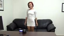 The casting fuck of a sexy redhead