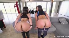 Kelsi Monroe & Abella Danger Spreading Their Asses
