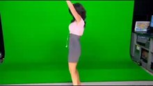Araksya Karapetyan caught dancing on Good day LA in front of her green screen