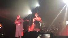 Big titties bouncing at a show