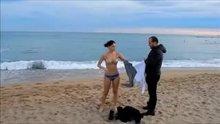 Vanessa Arías ~ Naked Embaressed Skinny Dip