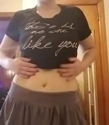 My MILF tits and chubby little belly