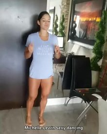 Michelle Lewin's sexy dance moves