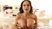Engulfed in Ava Addams' massive tits