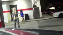 Bottomless at the gas station and pregnant