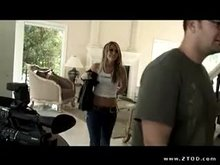Competitive tension between Jenna Haze and her director Courtney Cummz