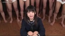 Japanese schoolgirl - full mouth