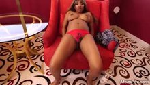 Black Milf sexy as hell takes it all off