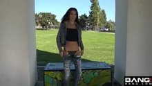 Playful flashing in the park