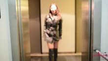 Julie Skyhigh in the hallway