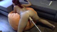Dildo Machine In Hot Brunette Milfs tight Pussy