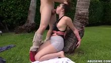 Teen Girl In Rope Bondage Mouth Fucked