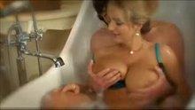 Big blonde boobs in the bath II