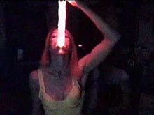 Glowing Dildo Distension Deepthroat