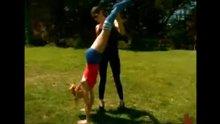 Handstand spank