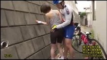 Female cyclist groped in public