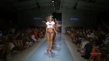 Swimsuit models dancing