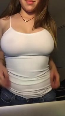 Showing off her tits