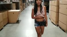 Jada Kai playing with herself in store