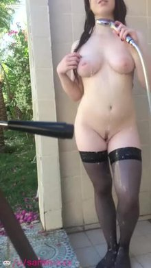 Outdoor shower fun! ;)