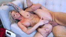 Synthia Fixx is getting anally fucked on the couch
