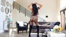 Aaliyah Hadid receiving anal creampie