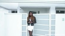 "Miss Karter in ""Open House Open Blouse"""