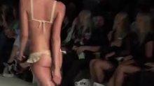 Bouncy big boobs on the runway