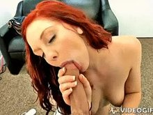 Blowjob from a cute redhead