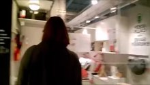 Girl gives blowjob in an IKEA